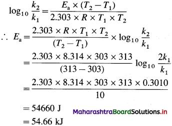 Maharashtra Board Class 12 Chemistry Solutions Chapter 6 Chemical Kinetics 138