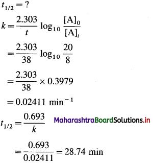 Maharashtra Board Class 12 Chemistry Solutions Chapter 6 Chemical Kinetics 85