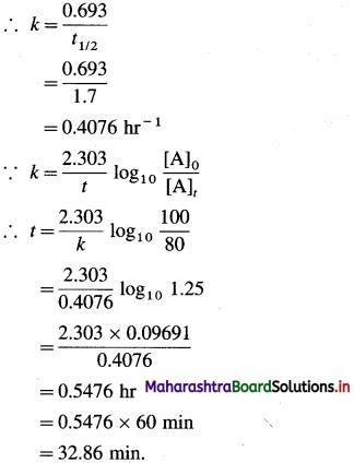 Maharashtra Board Class 12 Chemistry Solutions Chapter 6 Chemical Kinetics 87
