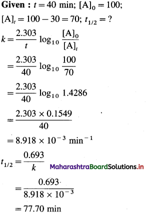 Maharashtra Board Class 12 Chemistry Solutions Chapter 6 Chemical Kinetics 88